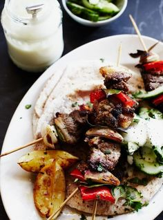 Quick lamb kebabs  With a simple rub  Read more at http://www.jamieoliver.com/recipes/lamb-recipes/quick-lamb-kebabs/#7LtpYb1iIvKPB0Yh.99