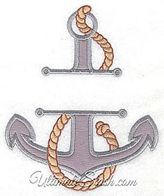 Award-Winning Embroidery Designs Since John Deer's Adorable Ideas New Ultimate Stash Site Features Over Quality Designs and an Embroidery Club Applique Designs, Machine Embroidery Designs, Advanced Embroidery, Split Design, Baby Embroidery, Nautical Design, Boat Stuff, Sailboat, Decoration