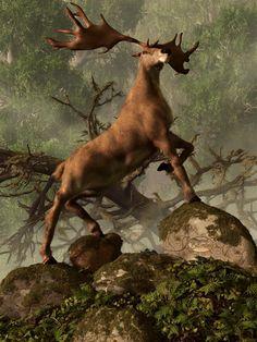 The Irish Elk by deskridge.deviantart.com on @deviantART