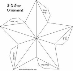 5 point star template craft pattern 5 pointed star pattern