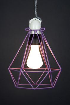 Empirical Style Modern Dandy Purple DIamond Cage Pendant Light_6422 Cage Pendant Light, Purple Diamond, Dandy, Ceiling Lights, Bathroom, Girls, Modern, Home Decor, Style