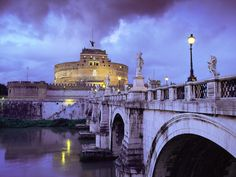 Castel Sant'Angelo and Bridge, Rome, Italy