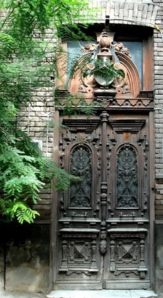 Old door with a lot of character in Tbilisi, Georgia, Asia.