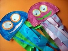 paper plate jelly fish craft by aurelia