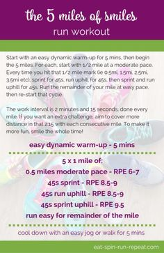 Fitness Friday 285: The 5 Miles of Smiles Run Workout