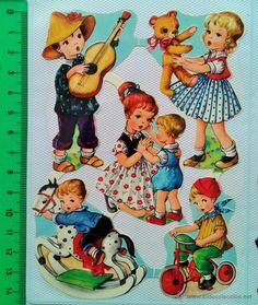 EXCELENTES Y PRECIOSOS CROMOS TROQUELADOS (Coleccionismo - Cromos y Álbumes - Cromos Troquelados) Vintage Pictures, Vintage Images, Cute Pictures, Retro Toys, Vintage Toys, Christmas Decals, Cute Illustration, Vintage Children, Vintage Prints