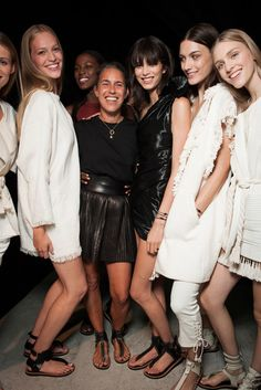 Isabel Marant and Models Backstage at her Spring/ Summer 2015 Ready-to-Wear Show | Style.com