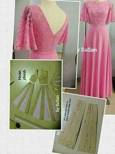 adding fullness to a skirt pattern Long Dress Patterns, Dress Sewing Patterns, Clothing Patterns, Fabric Sewing, Fabric Yarn, Skirt Patterns, Blouse Patterns, Diy Clothing, Sewing Clothes