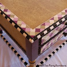 Sugar and Spice Hand Painted End Table by madteapartyfurniture, via Flickr