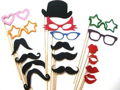 Fun Photo Booth Props  Party Collection  18 pièce par TheManicMoose, $25.00