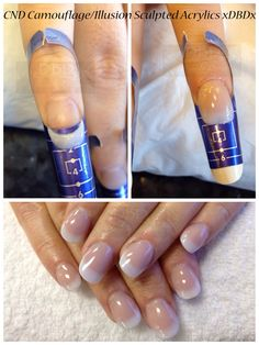 Illusion CND Acrylic Nails.  www.Facebook.com/DivineByDesignBeauty