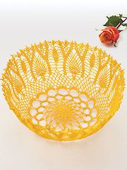 New Crochet Downloads - Pineapple Pageantry Bowl
