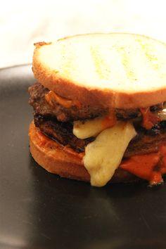 Burger d'automne patate douce, champignons et comté   Not Parisienne