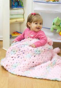 Sweet Dreams Crochet Blanket  in Red Heart Baby Clouds - LW1804