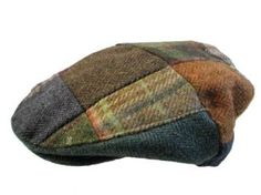 7ddbd2b74c5 Patchwork Flat Cap Irish Tweed Made in Ireland John Hanly   Co.
