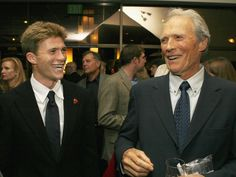 Pin for Later: 21 Celebrity Dads Who Are Nearly Identical to Their Sons Clint Eastwood and Scott Eastwood Clint And Scott Eastwood, Gran Torino Film, Clint Eastwoods Son, Clint Eastwood Pictures, Trouble With The Curve, Movies 2014, Z Cam, Star Wars, Sons