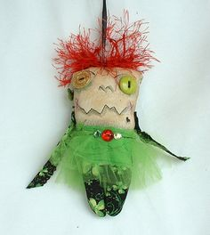 Mini Monster Voodoo Doll  Ornament A2                                                                                                                                                     More