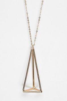 UO Geometric Pendant Necklace