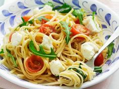 Spaghetti met buffelmozzarella