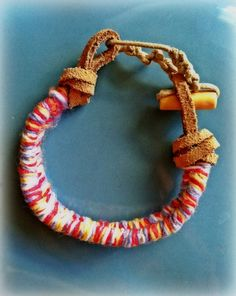 Colorful spring braided bracelet hypoallergenic  by coconutcloud, $10.00