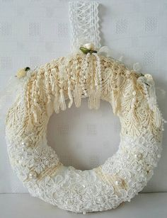 Burlap  Burlap wreath  Burlap door decor  by Chiclaceandpearls