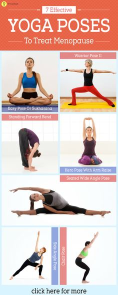 Listed here are some specific yoga poses for menopause symptoms. What are they? Let's take a look!