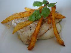 Czary w kuchni- prosto, smacznie, spektakularnie.: Mintaj podany na sosie beszamelowym ze słodkim gro... Carrots, Fish, Chicken, Meat, Vegetables, Carrot, Veggies, Veggie Food, Vegetable Recipes