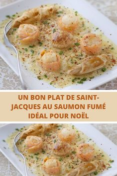 Aujourd'hui, je vous propose de retrouver une ancienne recette avec des noix de saint-Jacques au saumon fumé qui devaient commencer à vous manquer… idéale comme un plat principal pour Noël  Nous avons trouvé cette entrée vraiment Tip-Top, je vous l' assure. Il vous est également possible de la proposer en plat principal accompagnée de tagliatelles ou de riz basmati. Tip Top, C'est Bon, Entrees, Starters, Seafood, St Jacques, Meat, Chicken, Nouvel An