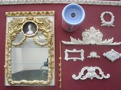 how to: trim for a trumeau mirror