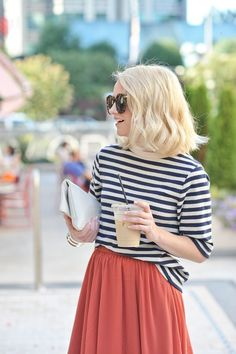 Poor Little It Girl - Striped Shirt and Chiffon Skirt - @poorlilitgirl