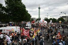 In Frankreich haben zehntausende gegen die geplanten Reformen der Regierung Hollande protestiert. Die Regierung will die Gesetze ohne Abstimmung in der Abgeordnetenkammer durchdrücken. Am Tag der A…