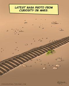 Latest NASA Photo from Curiosity on Mars