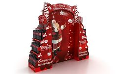 Exhibicion para navidad coca cola