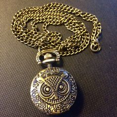 Brass Clock Necklace Clock Necklace, Pendant Necklace, Pocket Watch, Brass, Watches, Accessories, Jewelry, Products, Jewlery