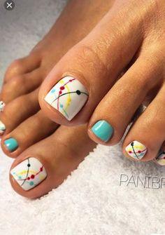 34 Ideas For Summer Pedicure Designs Toenails Beach Nails Cute Toenail Designs, Cute Summer Nail Designs, Pedicure Designs, Toe Nail Designs, Pedicure Ideas, Nails Design, Summer Design, Pedicure Colors, Pedicure Nail Art