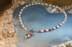 Niia`s 6th birthday present. Fresh water pearls, sterling silver (925) Handmade by Goldsith Sanna Hytönen, Finland. http://www.kultaseppasannahytonen.com/