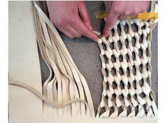 Knotting  - upcycling sofa leather