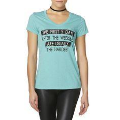 Joe Boxer Juniors' Graphic T-Shirt - 5 Days Hardest - M or L