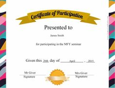 certificate of participation template ppt - of the certificates presentation on parent appreciation