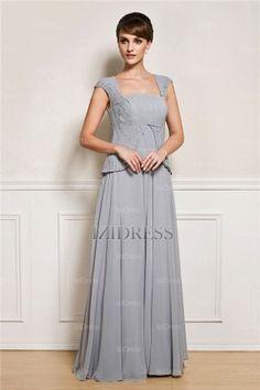 A-Line/Princess Square Floor-length Chiffon Mother Of The Bride Dress - IZIDRESSES.com at IZIDRESSES.com