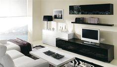 Me gusta blanco el piso en blanco y negro la sala.