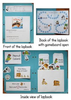 "Free Pirate Lapbook for PreK. Scroll down to see ""Download the ENTIRE Pirate Lapbook pdf {3 MB}"" so that you can download the whole lapbook"