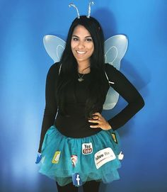 I hate people, but I love me some social. 💁🏽 #socialbutterfly #halloween #punnycostume #instagood #photooftheday