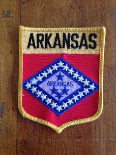 Arkansas State Flag Vintage Travel Patch by HeydayRetroMart, $5.00