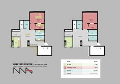Dialysis Center - Floor Setting Out Plans designed by NGHIA NGUYEN architects http://nghianguyen0410.wix.com/kientruc