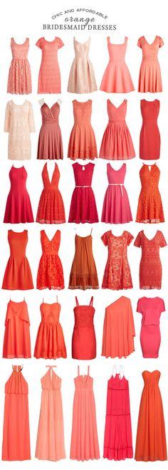 New Wedding Bridesmaids Orange Bridal Parties Ideas Orange Bridesmaid Dresses, Wedding Bridesmaids, Wedding Dresses, Frock Fashion, Fashion Dresses, Fashion Terms, Indian Gowns Dresses, Orange Fashion, Facon