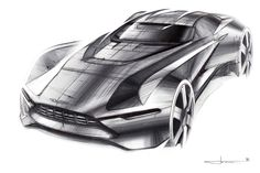 "Aston Martin ""Tech-07"" Sketches on Behance - Ondrej Jirec"