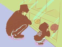 Got7 Fanart, Kpop Fanart, Jaebum, Chibi, Fan Art, Anime, Asian Guys, Board, Little Birds
