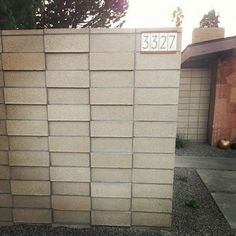 Neutra house numbers courtesy of Heath Ceramics modern exterior