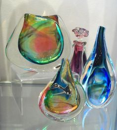 Guido -Glass blower, from Durban. Stunning colour combination. Email:info@artisan.co.za Ph: 031 312 4364